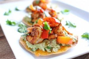 shrimp tostadas by bev cooks