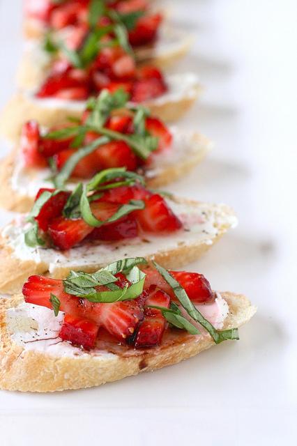 Strawberry Bruschetta by Annie's Eats