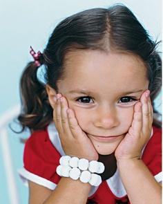 Pom Pom Bracelets via Martha Stewart