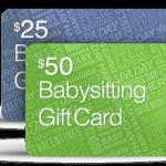 babysitting gift cards